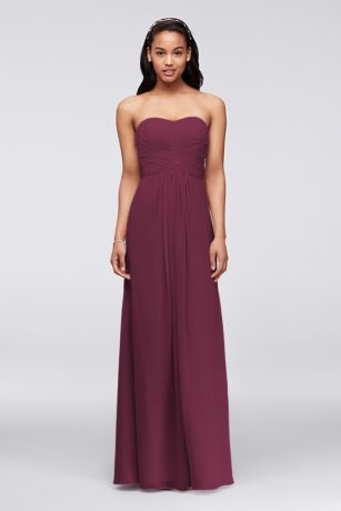 Long A-Line;Sheath Strapless Dress - David's Bridal