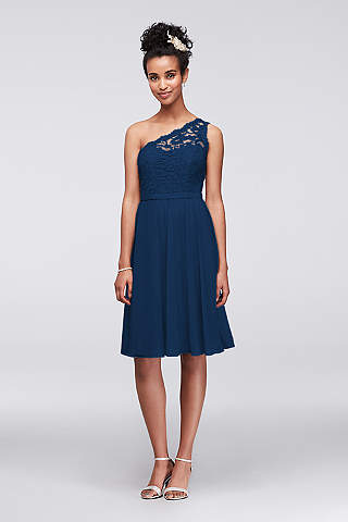 Short Bridesmaid Dresses in Various Styles | David\'s Bridal