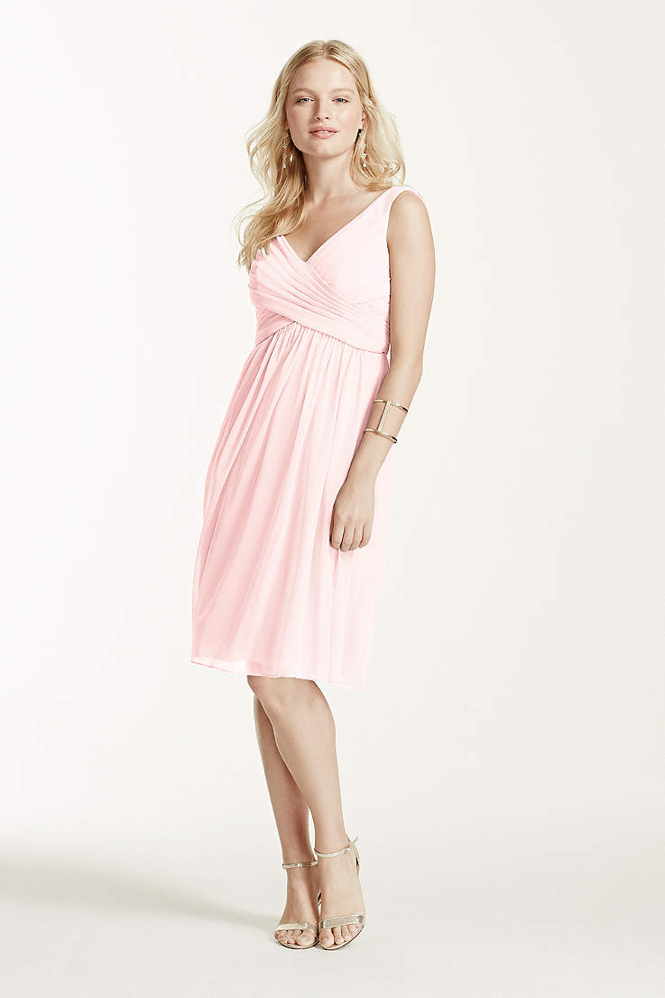 e7d95c4bc32c9 Soft & Flowy David's Bridal Short Bridesmaid Dress