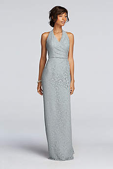 All Over Lace Halter Sheath Dress
