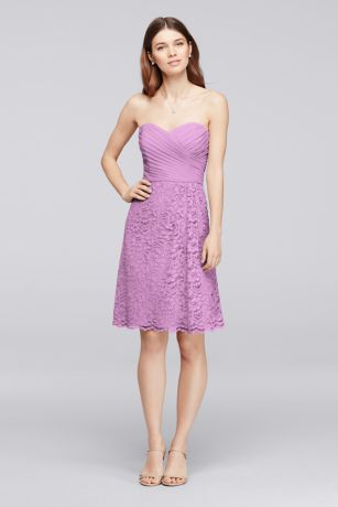 Short Sweetheart Neckline Bridesmaid Dress