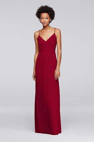 Long Red Dresses - Red Formal Dresses & Gowns | David\'s Bridal