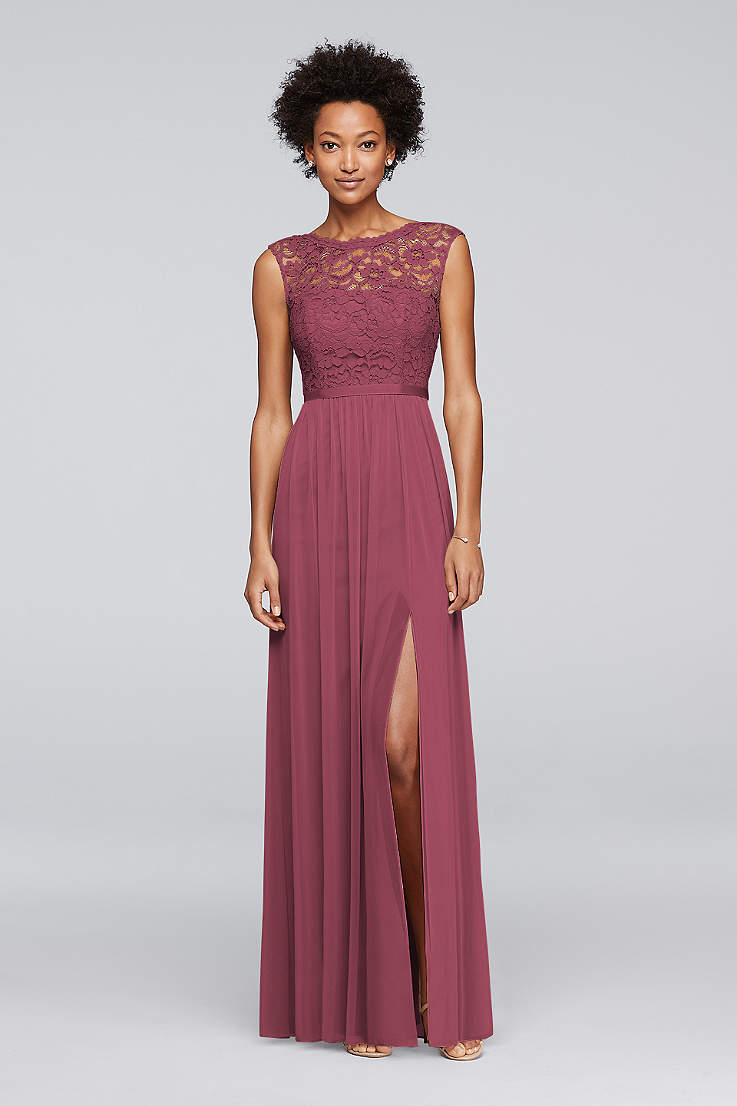 8c0eaee8734a Soft & Flowy;Structured David's Bridal Long Bridesmaid Dress