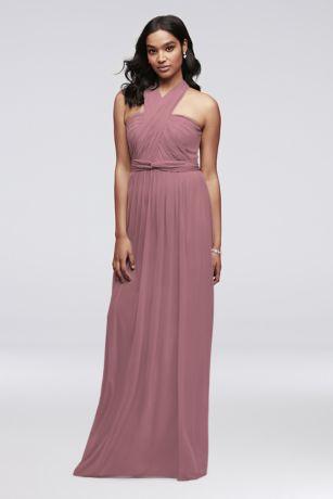 Long Mesh Style Your Way 6 Tie Bridesmaid Dress by David's Bridal