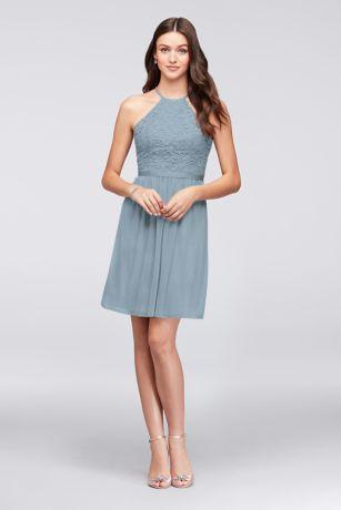 Short A-Line;Sheath Halter Dress - David's Bridal