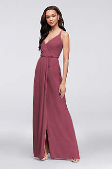 Long Sheath Spaghetti Strap Guest of Wedding Dress - David's Bridal
