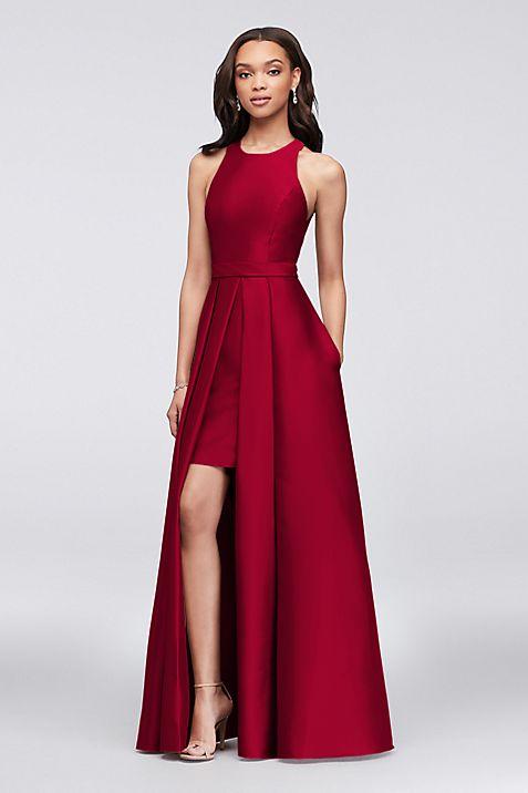 Mikado Bridesmaids Walkthrough Ball Gown | David\'s Bridal
