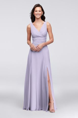 f2e4d39380 Soft   Flowy David s Bridal Long Bridesmaid Dress