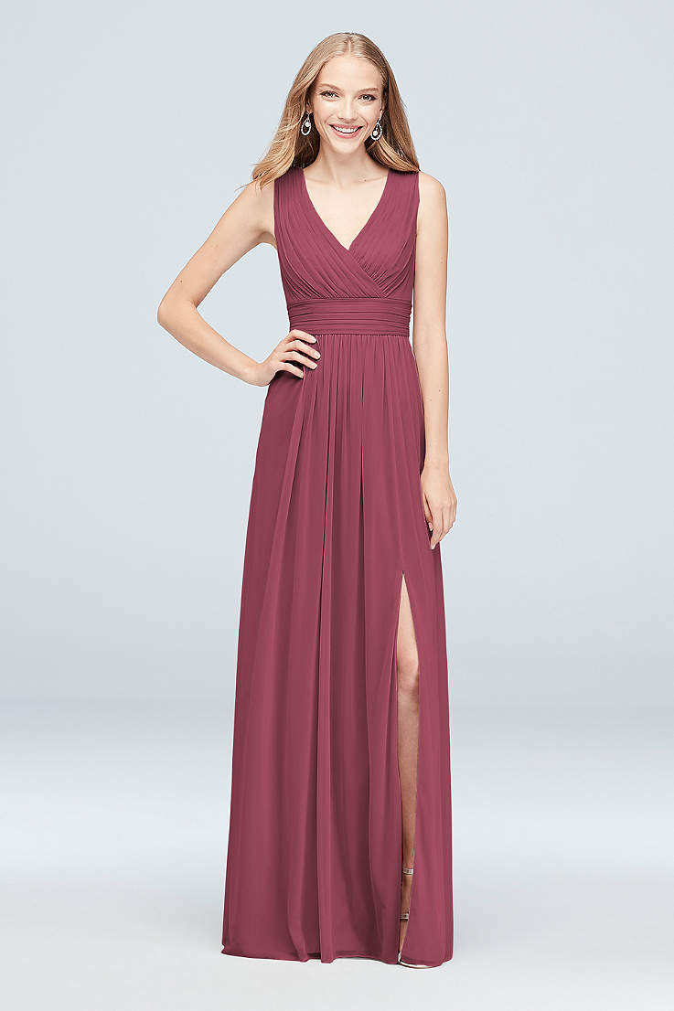 57caf52676bd V-Neck Bridesmaid Dresses - Open Neckline Gowns | David's Bridal