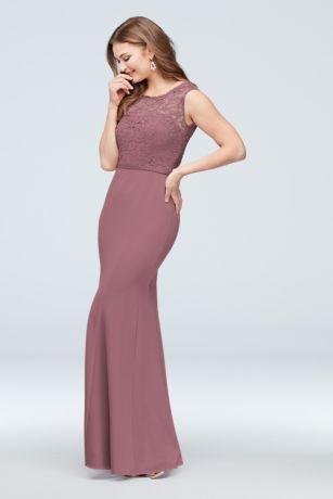 3e76a960a6bfc Soft & Flowy;Structured David's Bridal Long Bridesmaid Dress