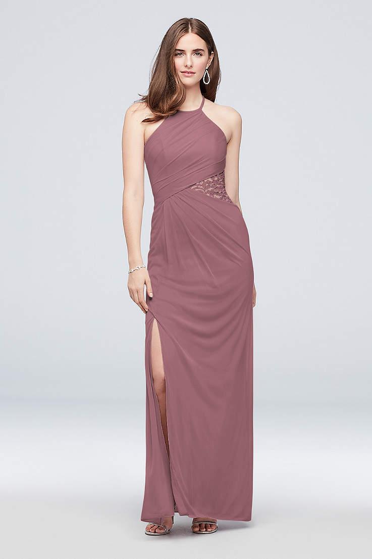 184c4004a50 Soft   Flowy Structured David s Bridal Long Bridesmaid Dress