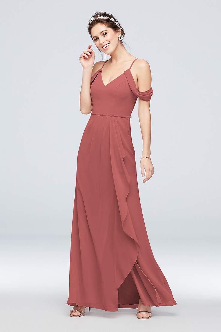 Beach Bridesmaid Dresses Flowy Tropical Gowns David S