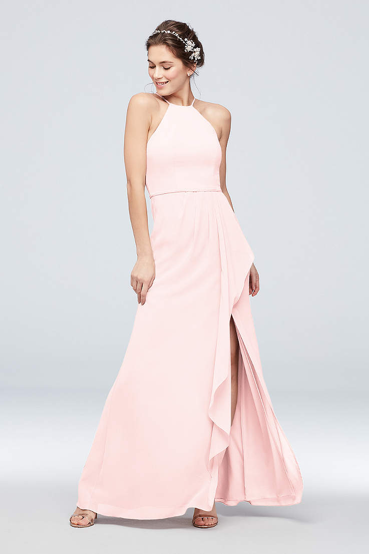 504008394b34 Chiffon Bridesmaid Dresses & Gowns: Long and Short | David's Bridal