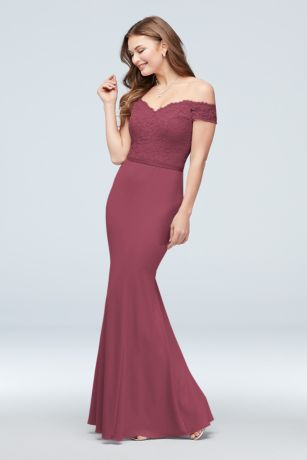 86563e73062 Soft & Flowy;Structured David's Bridal Long Bridesmaid Dress