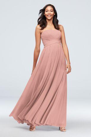 b2580efea331 Long Bridesmaid Dresses You'll Love | David's Bridal