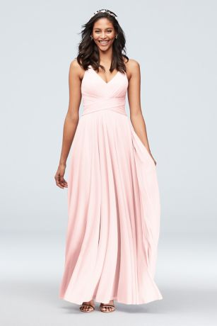 c0ed6df2984 Soft & Flowy David's Bridal Long Bridesmaid Dress