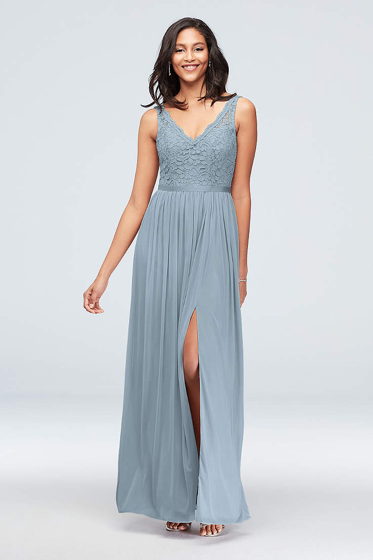 e442ba0471796 V-Neck Bridesmaid Dresses - Open Neckline Gowns | David's Bridal