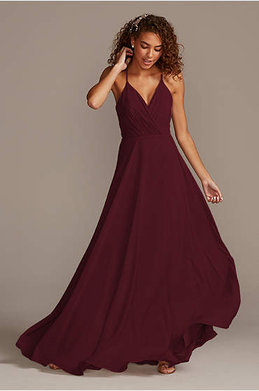 Spaghetti Strap Full Skirt Bridesmaid Dress