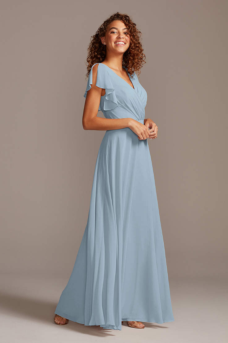 Chiffon Floor Length Dress. Bridesmaid Dress Off White Prom Dress Maxi Dress