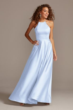Long A-Line Sleeveless Dress - David's Bridal