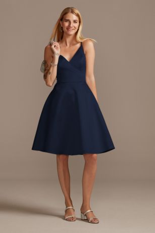 Structured Short Bridesmaid Dress
