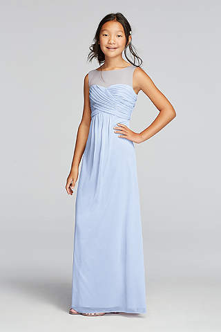 Soft U0026 Flowy Davidu0027s Bridal Long Bridesmaid Dress