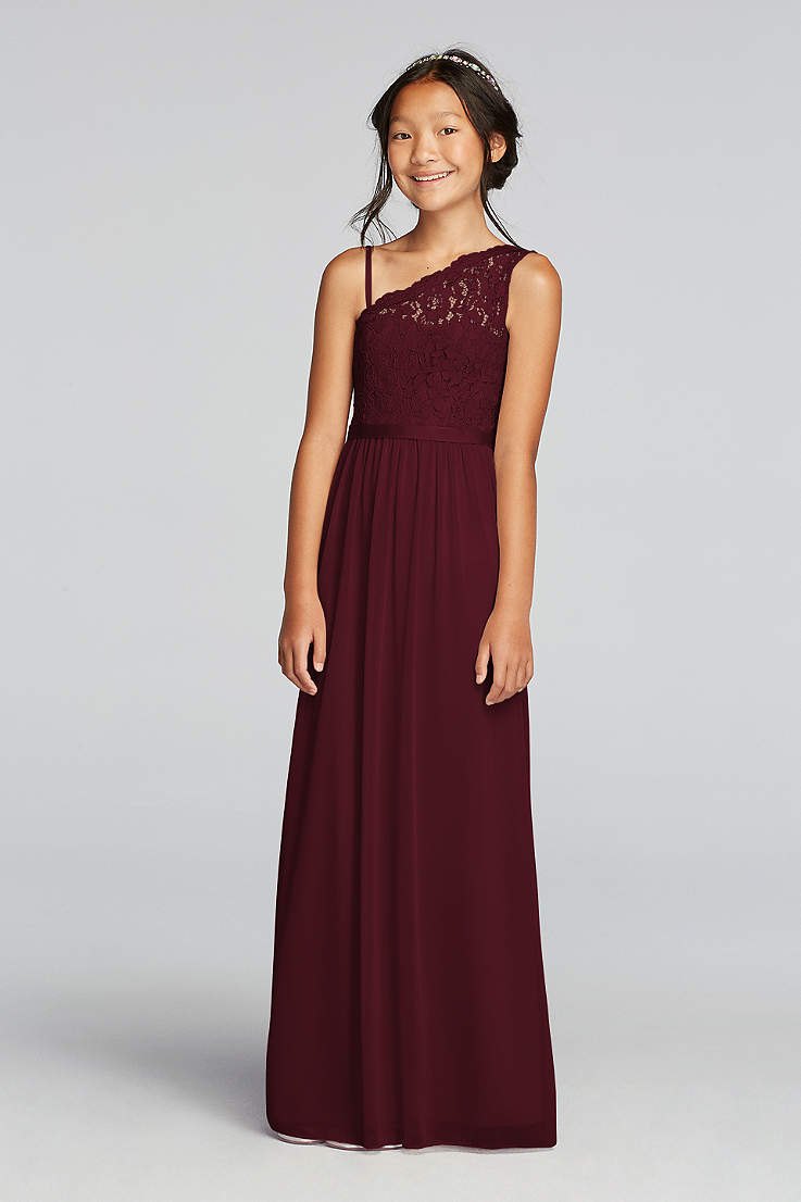 2849498e0dda Soft & Flowy;Structured David's Bridal Long Bridesmaid Dress