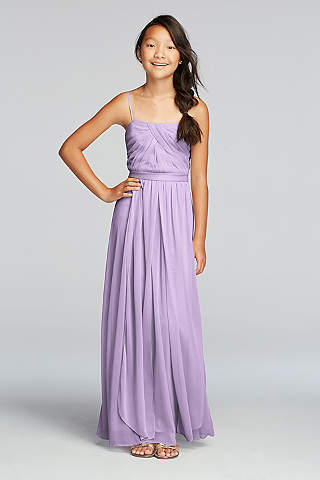 Versa Convertible Junior Bridesmaid Mesh Dress
