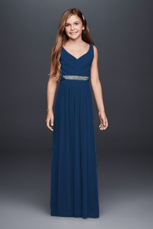 Soft & Flowy Long Bridesmaid Dress