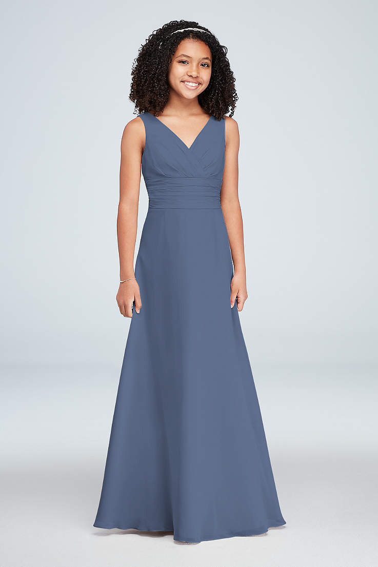 e2783ce775 Soft   Flowy David s Bridal Long Bridesmaid Dress
