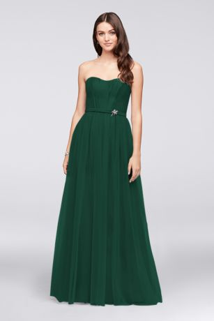Long Sheath Strapless Dress - Oleg Cassini