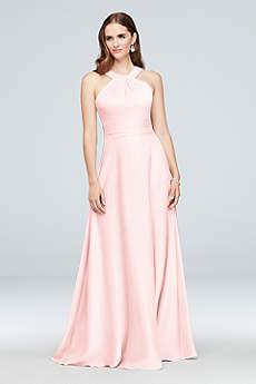 Structured Oleg Cassini Long Bridesmaid Dress