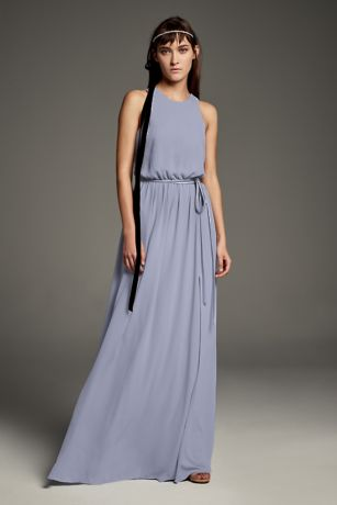 Georgette-Over-Charmeuse Blouson Bridesmaid Dress