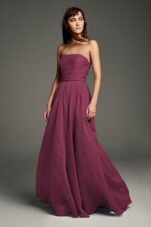 Textured Organza A-Line Bridesmaid Dress