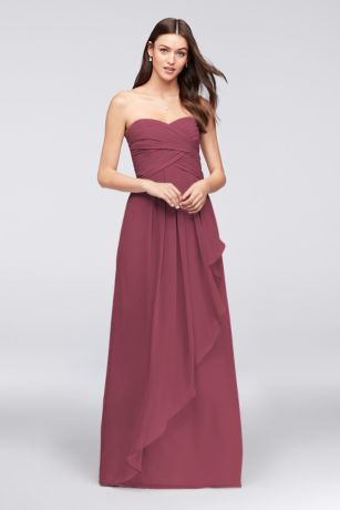 f5c2e19485a Soft   Flowy David s Bridal Long Bridesmaid Dress
