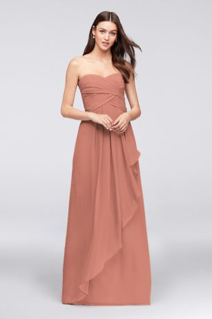 Long A-Line Strapless Dress - David's Bridal