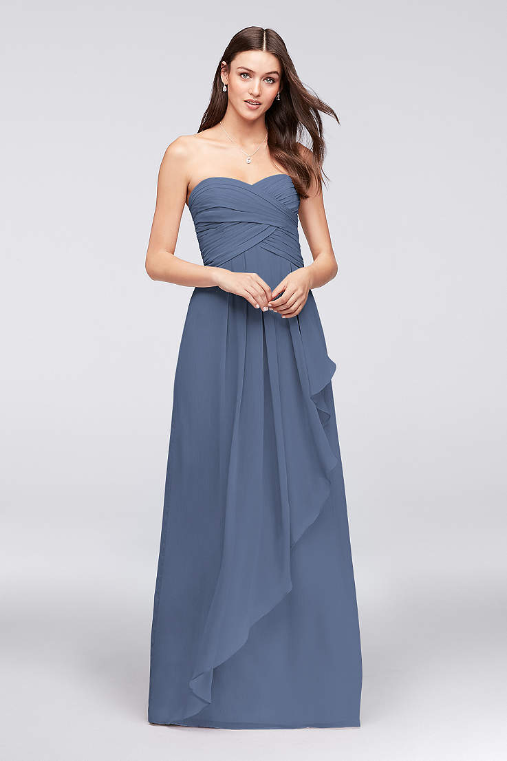 Long A Line Strapless Dress David S Bridal