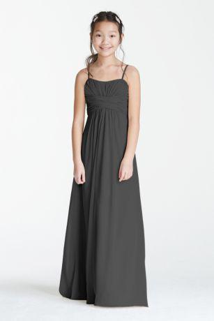 Other;Soft & Flowy David's Bridal Long;Sheath Bridesmaid Dress