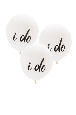 17 Inch White Round I Do Balloons Set of 3