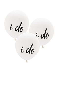 17 Inch White Round I Do Balloons Set of 3 4531