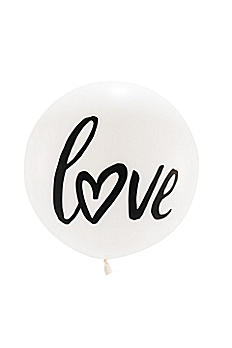 36 Inch Jumbo White Round Love Balloon 4534