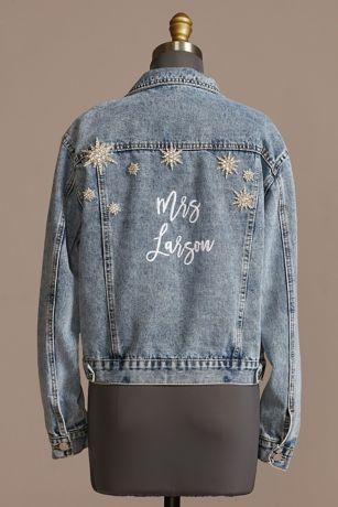 Star Studded Personalized Denim Jacket