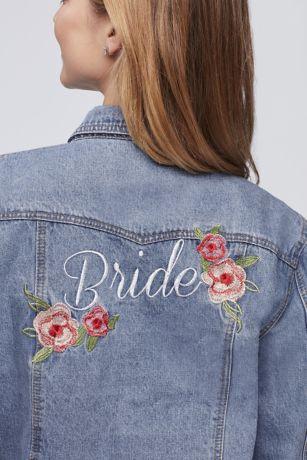 Embroidered Bride Denim Jacket David S Bridal