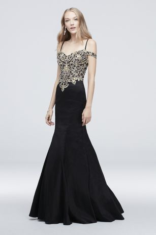 Long Mermaid/ Trumpet Off the Shoulder Dress - J By Jovani