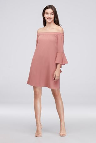 Short Sheath Off the Shoulder Dress - Speechless