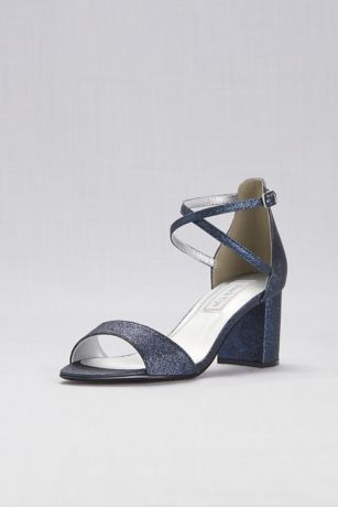 Touch Ups Beige;Blue;Grey;Ivory (Crisscross Strap Mid-Heel Sandals)