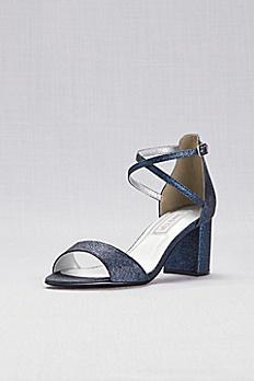 Crisscross Strap Mid-Heel Sandals JACKIE