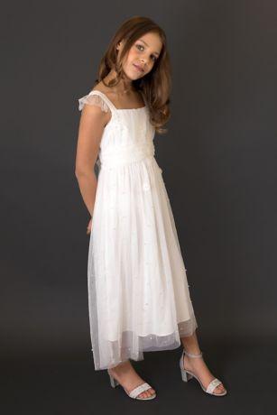 Tea Length A-Line Spaghetti Strap Dress - US Angels