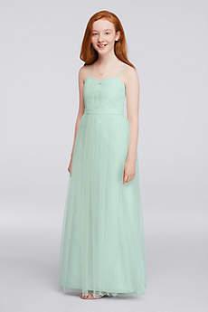 Light Teal PEACH-ORANGE Bridesmaid Dresses