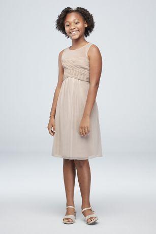 364db1b70db Soft   Flowy David s Bridal Short Bridesmaid Dress